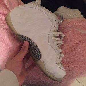 All white foams size 8